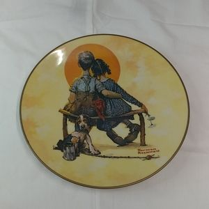 """Norman Rockwell Collector's Plate """"Puppy Love"""""""